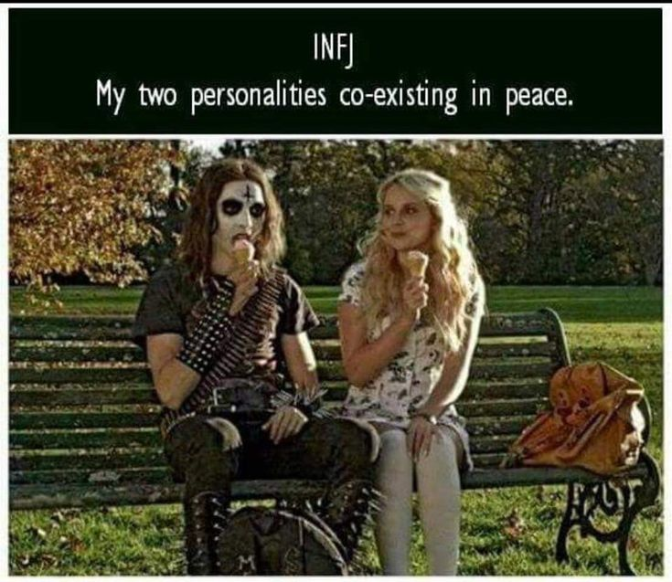 INFJ My two personalities coexisting in peace.