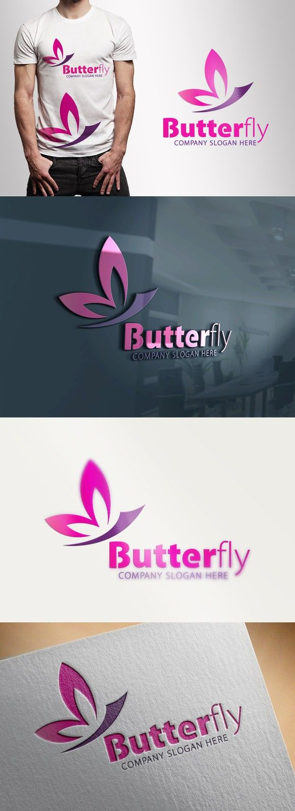 Logotype butterfly and letter b in different colour variants on a - Butterfly Logo Templates 28 00