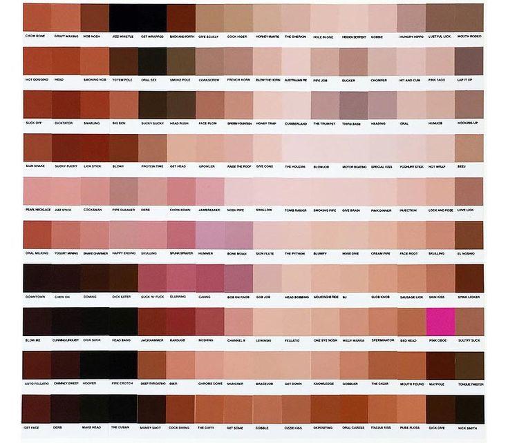Le Pantone art érotique et sexy de Nick Smith : Monica Lewinsky en pleine action