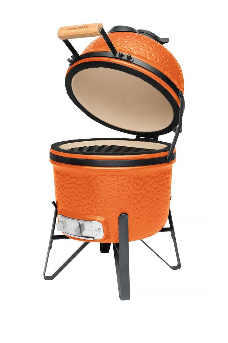"""Bright Orange 13"""" Ceramic BBQ"""