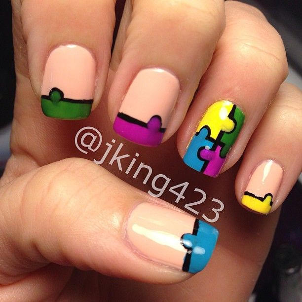 1000 images about autism nails on pinterest nail art designs shannon bellanca bellanca siracky you should try this prinsesfo Choice Image