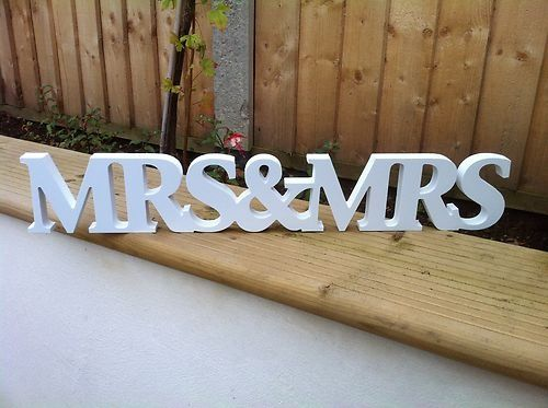 Shabby Chic Mr & Mrs & Mrs Sign Ideal wedding gift present for lesbian friends 18.20