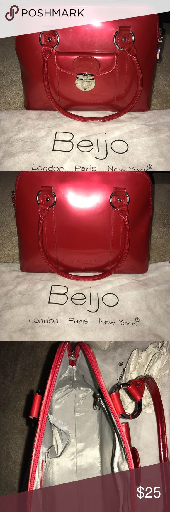 Red Beijo Bag Medium size red purse. Rarely used. Bags Shoulder Bags