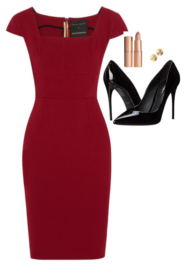 """Donna Paulsen Inspired Outfit"" by daniellakresovic ❤ liked on Polyvore featuring Roland Mouret, Dolce&Gabbana and Eddie Borgo"