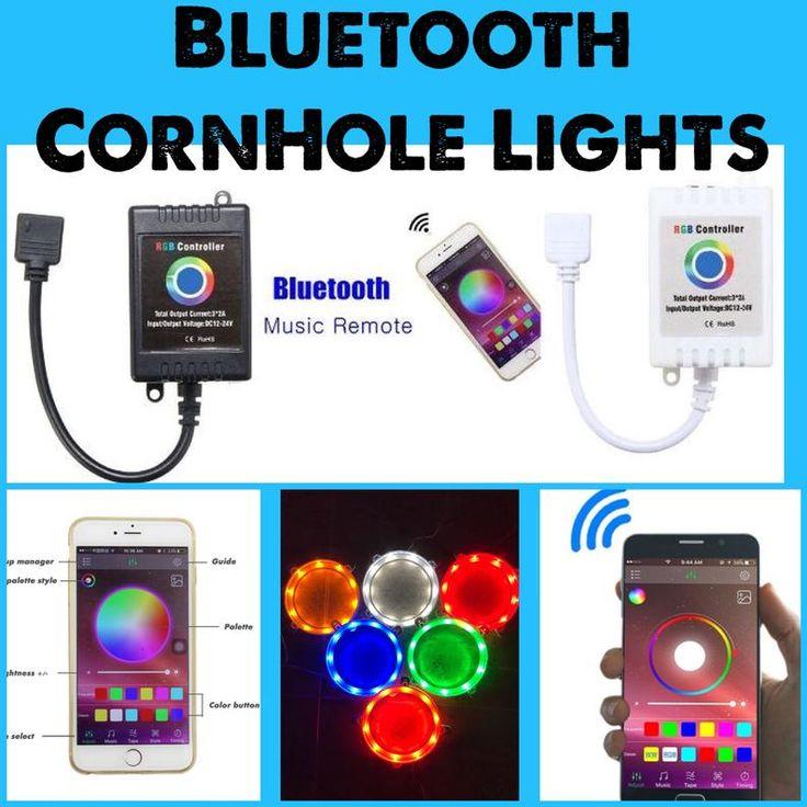 Bluetooth Controlled Cornhole Lights with 16 million