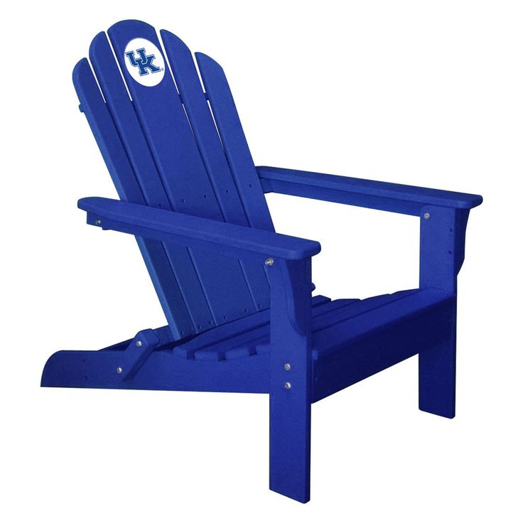 Kentucky Wildcats Folding Composite Adirondack Patio Chair in Blue