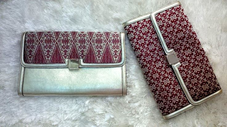 Clutch Bag, Made from songket Minang combined with premium cow leather  Angsa Dua, Indonesian premium bag inspired by Indonesian royal heritage