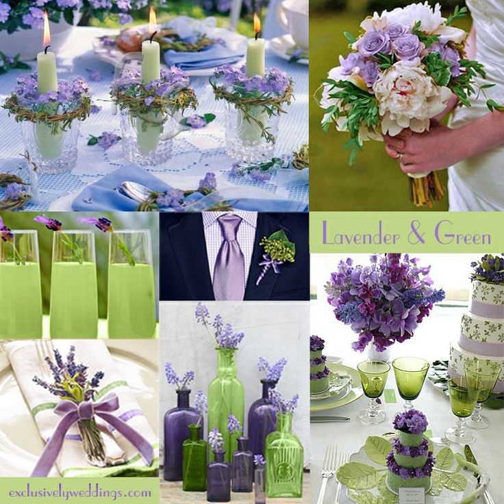 Lavender and Green Wedding Colors - I think this is a winner! With dark blue too lol @Jason DeLuca