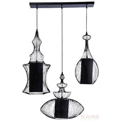 Lampa sufitowa Swing Iron Tre, kare design