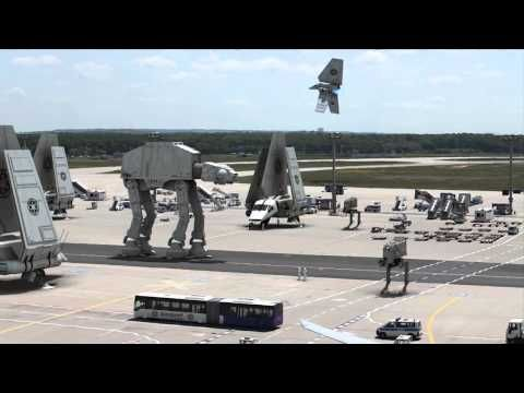 Cool Star Wars video transforms real world airport into Imperial base.