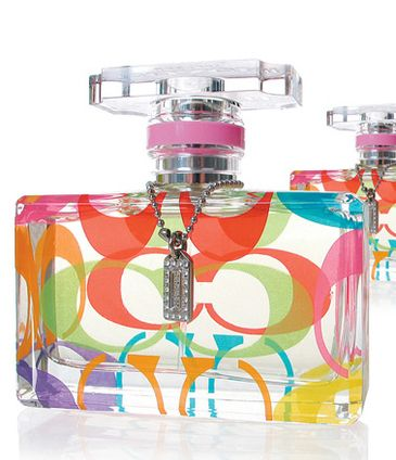 Fragrance Advertising   Coach limited edition perfume bottle