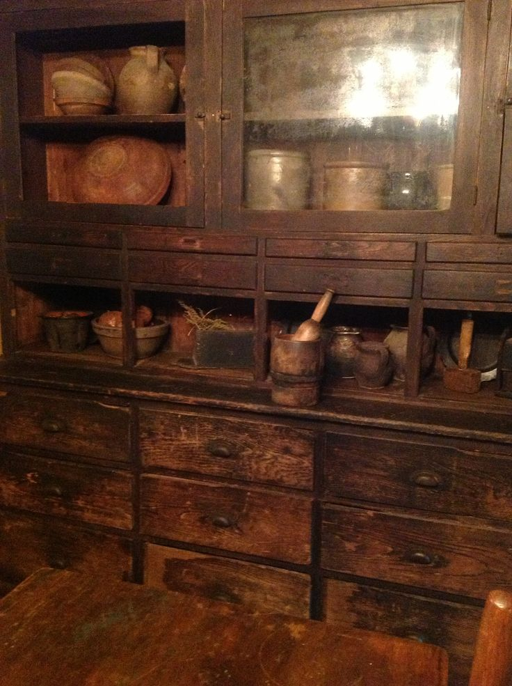 Beautiful Old Cupboard with lots of wood prims - 97 Best The Primitive Buttery Images On Pinterest Country