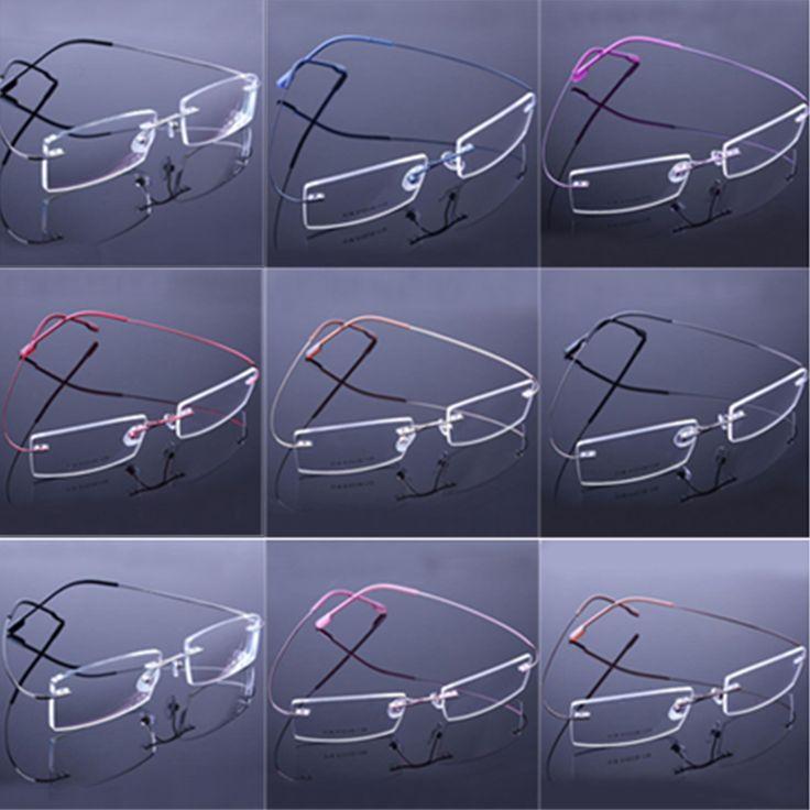 Top Quality No Border Glasses Frames Memory Titanium Eyeglasses Frames for Woman Man