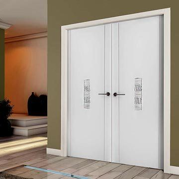 The prefinished Sanrafael Lifestyle 951 Double Door with flush effect, fully finished so no more decoration required for this sleek and stylish internal door pair. #sanrafaeldoors