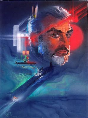 The Hunt For Red October unused poster art by Bob Peak