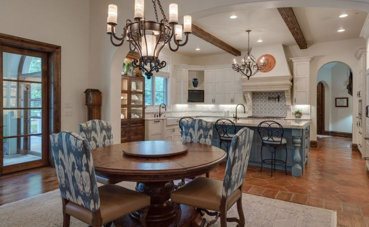 This Spanish style home is located at 2003 Scissortail Place in Westlake, Texas and is situated on half an acre of land.