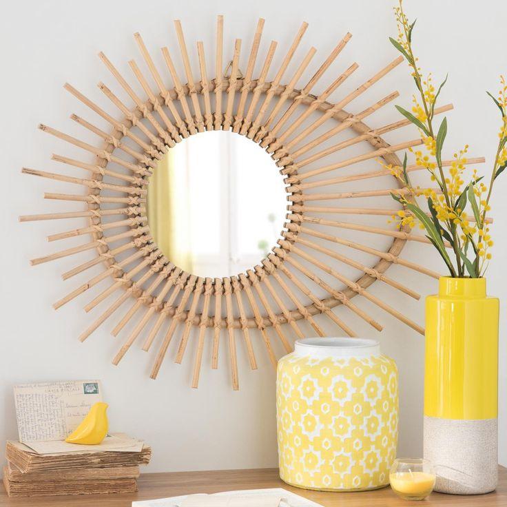 Les 25 meilleures id es de la cat gorie miroir de bambou for Deco miroir rotin