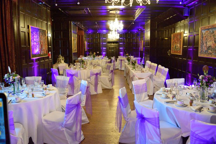Uplighting colour matched to your wedding colours will bring the whole room together - DJ Martin Lake
