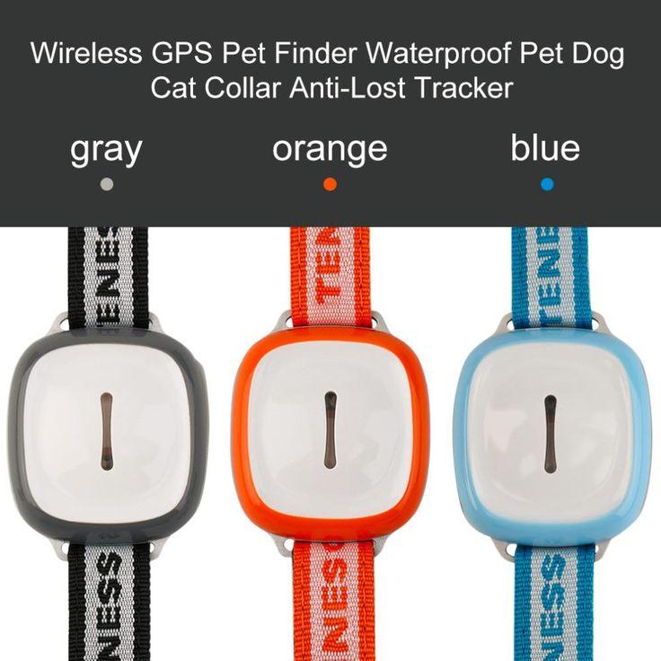 GT011 #Intelligent Wireless GPS #PetFinder Pet Dog Cat Collar #AntiLost $47.99
