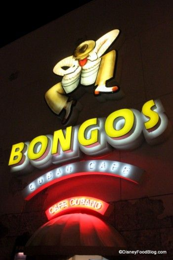 Bongos Restaurant at Downtown Disney has delicious Cuban food in a fun atmosphere!