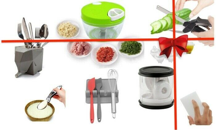 8 Pcs Kitchen Gadgets Gift Set Burger Press Chopper Scissors Holder And More Kitchen Gadgets Ideas Of Kitche Kitchen Gadgets Gifts Kitchen Gadgets Kitchen