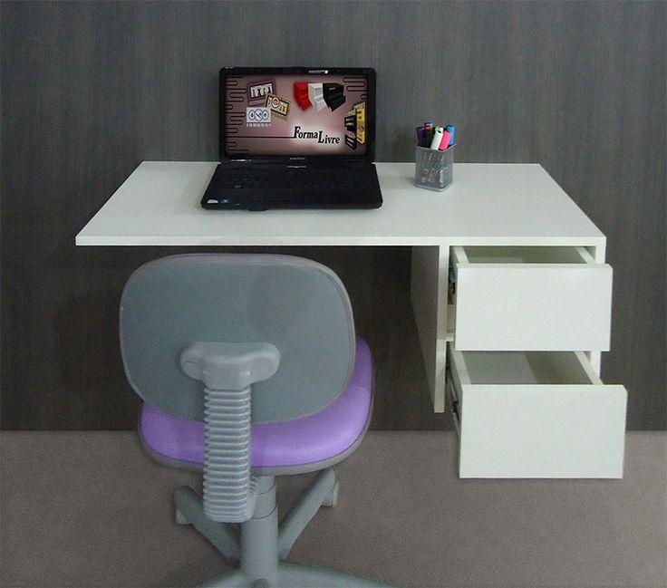 Escrivaninha Suspensa Mesa P/ Computador E Notebook - Branca - R$ 388,00 no MercadoLivre