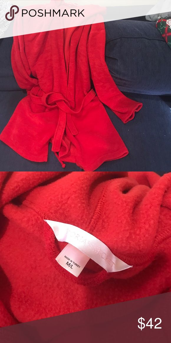 Cute and cozy Victoria's Sectret short fleece robe Comfy and cozy VS robe.  Worn just a few times. Victoria's Secret Intimates & Sleepwear Robes