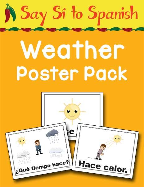 The Say Sí to Spanish: Weather Poster Pack is a collection of 18 colorful posters and fun activities that will help your learners learn weather vocabulary. Each poster in this set has a full-color image plus the corresponding Spanish word or phrase in bold text making it easy to see. The posters are 8 1/2 …