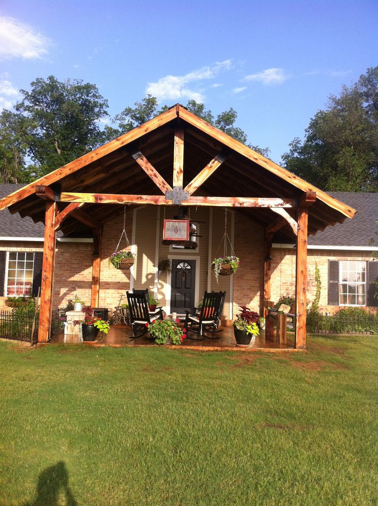 194 best images about for the home on pinterest western for Rustic front porch