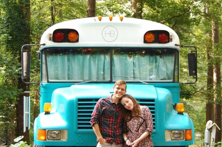Georgia couple convert old Blue Bird school bus into a cozy home on wheels