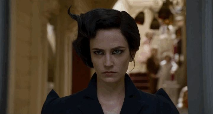 Even Miss Peregrine herself (Eva Green) has her own quirks. She can, for instance, turn into a bird at will. | Tim Burton's New Movie Looks Magically Dark And Weird