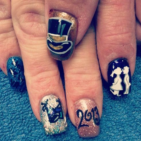 94 best new year new nails images on pinterest nails magazine happy new year by nailtechtish nail art gallery nailartgalleryilsmag by nails prinsesfo Choice Image