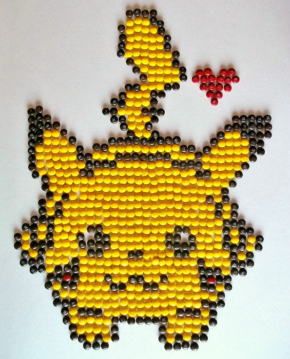 M&M Pikachu Pixel Art #FueledByMM Contest #shop #cbias