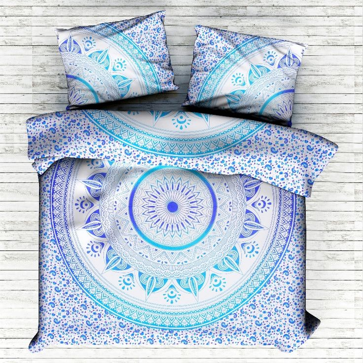 Saavan Ombre Mandala KING Duvet Cover. This is a Reversible Duvet Cover ,You Can Use From Both Side. Indian Art for hippie bohemian decor. Traditional Print. #Mandala #India #express free Shipping #Bohemian #hippie #gypsy #soul #love #life #home #room #decor #decorative #traditional #bedding #set #pillow #slip #sham #case #cover #handicraftpalace