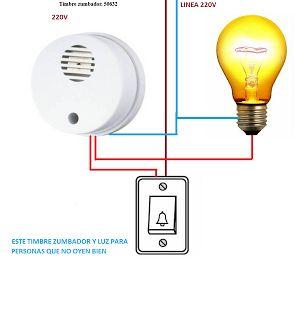 Esquemas eléctricos: TIMBRE ZUMBADOR Y PUNTO DE LUZ
