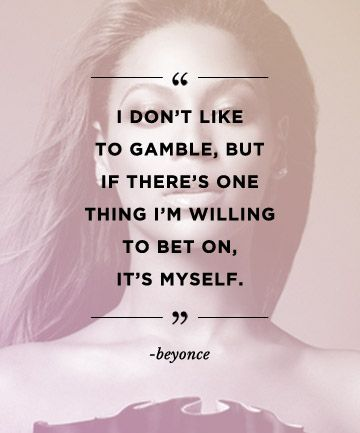 Quotes to build confidence: REPIN these words from Beyonce to inspire others!