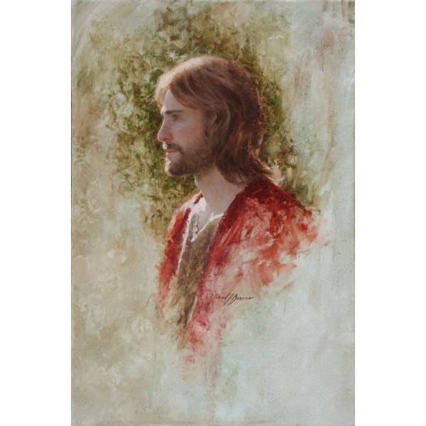 LDS Art - Paintings Of Jesus - Painting Of Jesus - Jesus Painting ❤ liked on Polyvore