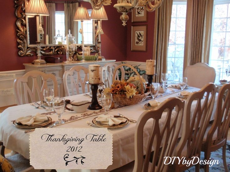 DIY By Design Thanksgiving Table Dining Room Pinterest