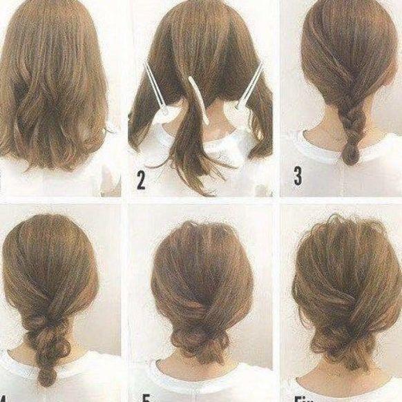 Simple Messy Updo For Medium Hair Tutorial Hair Medium Messy Messybunformediumhair Sim Hair Tutorials For Medium Hair Medium Hair Styles Hair Tutorial