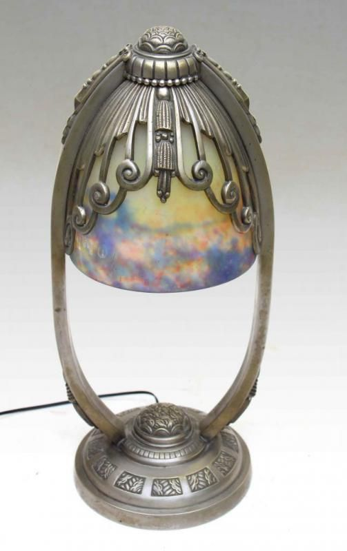 Lampe MULLER Art Déco 1925   Galerie Tramway                              …