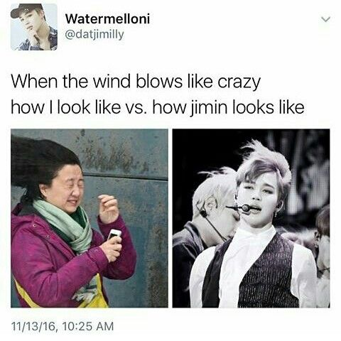Even the wind loves Jimin! Uarghhh *cries loudly*