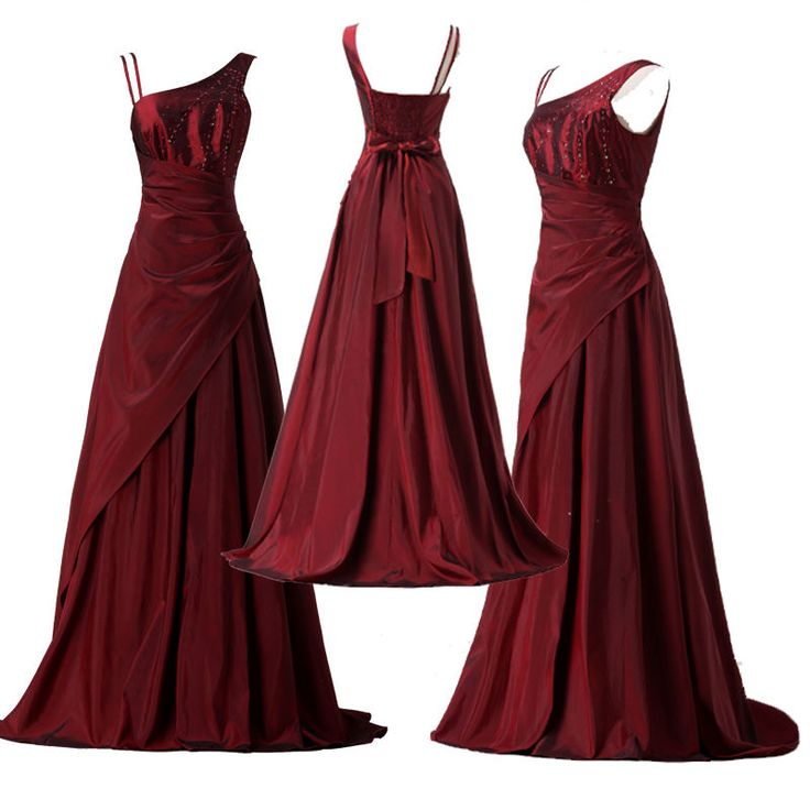 Floor Length Vintage Bridesmaid Prom Evening Formal Party Gowns Cocktail Dresses