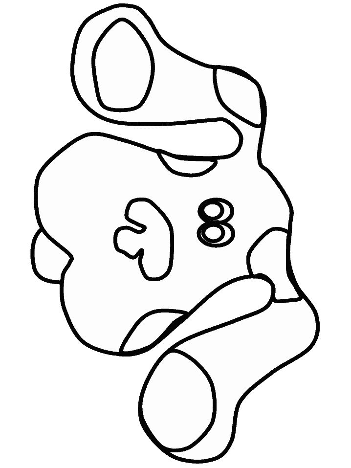 blues clues coloring pages notebook - photo#40