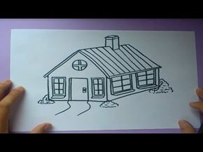 ▶ Como dibujar una casa paso a paso | How to draw a house - YouTube