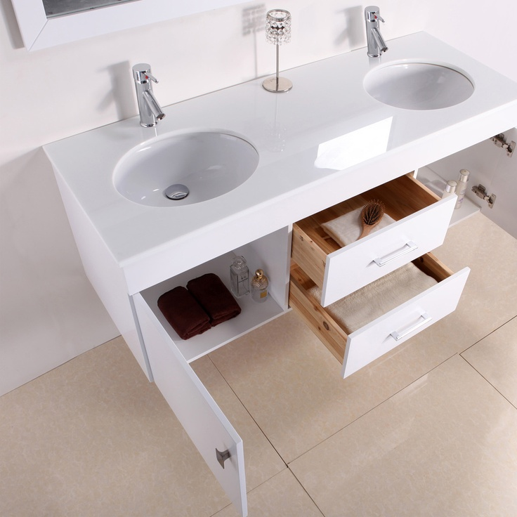 Alyssa 56 Inch Double Sink Vanity Set By Virtu Usa Produkter Hoar Och Toalettbord