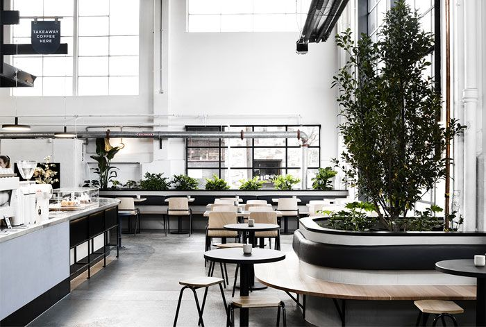 Techne Promotes Customer And Barista Interaction With New Cafe Concept Cafe Concept Australian Interior Design Interior Design Awards