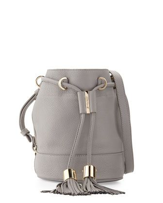 Vicki+Small+Leather+Bucket+Bag,+Cashmere+Gray+by+See+by+Chloe+at+Neiman+Marcus.