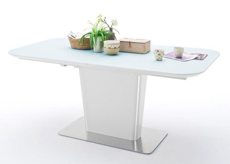 Tisch Ubora 180x95 Sulentisch Ausziehbar Weiss Matt Edelstahl 22460 Buy Now At