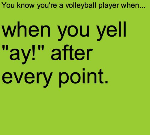 You know you're a volleyball player when... Every Time!!!!!❤️