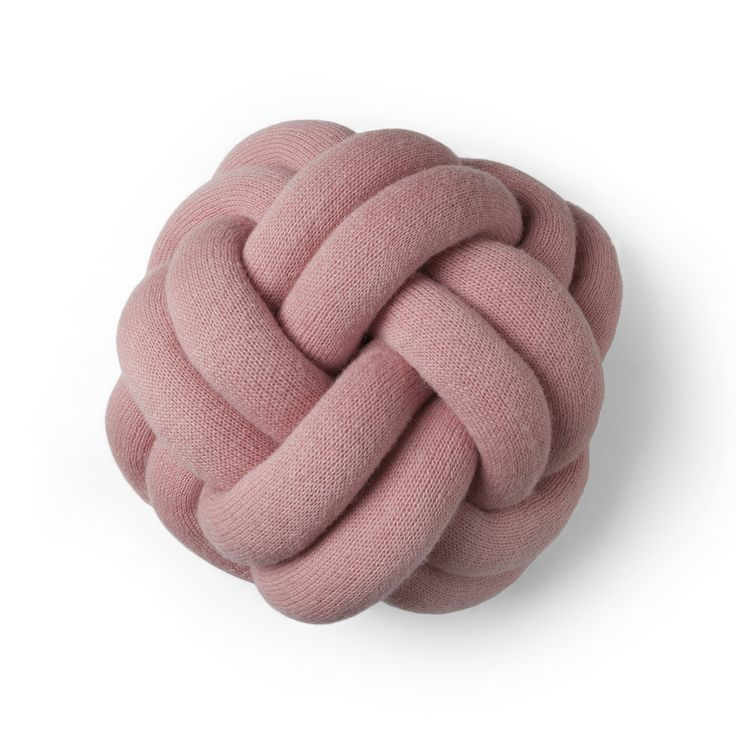 Knot cushion is as comfortable as it is elegant to behold.
